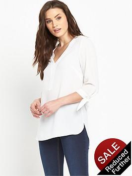 v-by-very-tie-sleeve-utility-blousenbsp