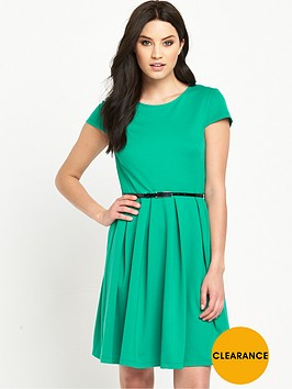 v-by-very-petite-pontenbspfit-and-flare-dress