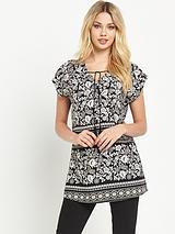 Printed Tassel Tunic