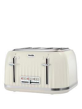 Breville   Vtt702 Impressions 4-Slice Toaster - Cream