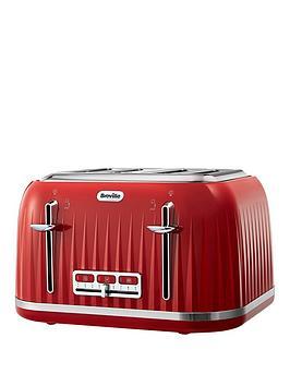Breville   Vtt783 Impressions 4-Slice Toaster - Red
