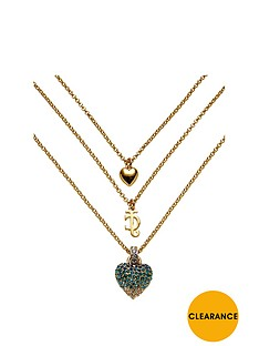 juicy-couture-juicy-couture-gold-tone-blue-crystal-heart-triple-strand-necklace