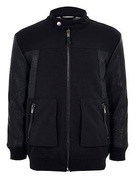 river-island-boys-pu-panel-bomber-jacket