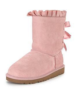 ugg-girls-bailey-bow-ruffles-boot-pink