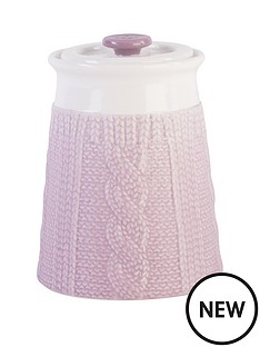 beau-elliot-chunky-knit-storage-jar-heather