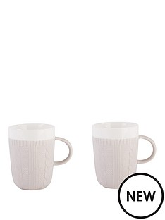 beau-elliot-chunky-knit-mugs-set-of-2-pebble