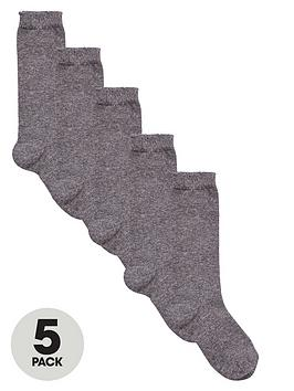 V by Very V By Very Girls Knee High Socks 5 Pack - Grey Picture