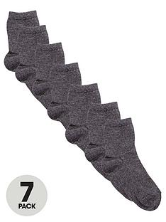 top-class-unisex-grey-ankle-socks-7-pack
