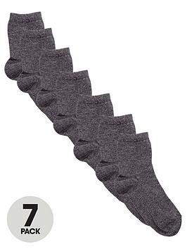 V By Very Unisex Grey Ankle Socks (7 Pack)