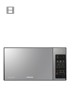 samsung-me83x-23-litre-microwave-with-ceramic-enamel--nbspblack-with-mirror-door