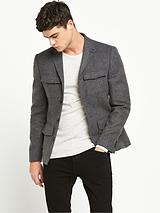 Slim Fit Pocket Blazer