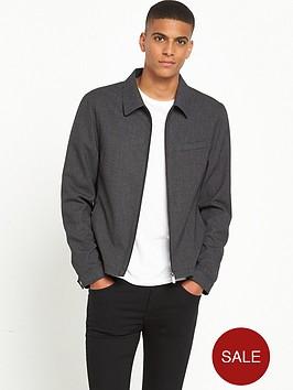 river-island-smart-gingham-zip-up-jacket
