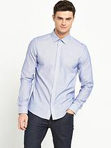 Long Sleeved Fine Stripe Shirt