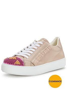 pinko-acquamarina-taupe-fringe-sneaker