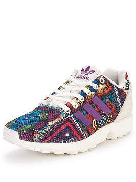 Adidas Originals Zx Flux Fashion Shoe  Multicoloured