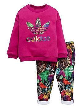 adidas-originals-adidas-originals-baby-girl-animal-crew-suit