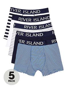 river-island-5pk-nautical-striped-trunks