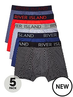 river-island-5pk-polka-dot-printed-trunks
