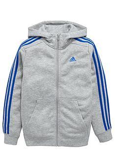 adidas-adidas-older-boys-ess-3-stripe-fz-hoody