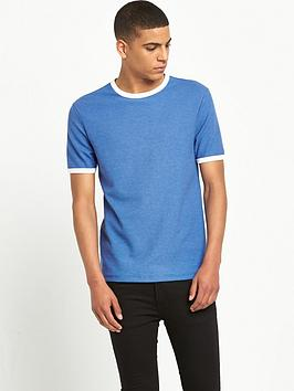 river-island-short-sleeved-waffle-textured-crew-neck-t-shirt