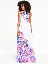 Embellished Printed Maxi Dress