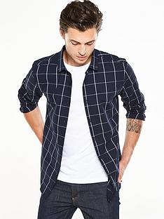 v-by-very-long-sleeve-grid-check-shirt