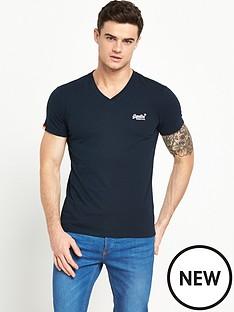 superdry-orange-label-v-neck-t-shirt