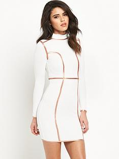 rare-contrast-binding-bodycon-dress