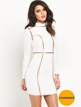 rare-contrast-binding-bodycon-dress
