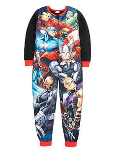 marvel-avengers-team-print-fleece-sleepsuit