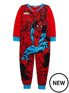 spiderman-aop-fleece-sleepsuit
