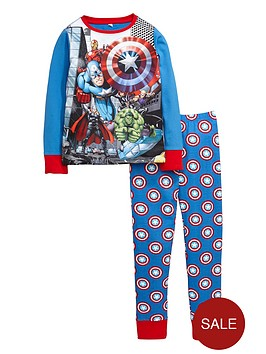 marvel-avengers-team-print-shield-pyjamas