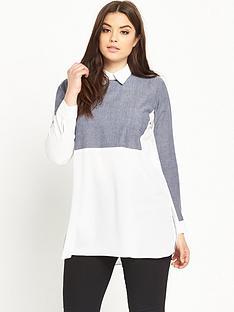 ax-paris-curve-curve-contrast-shirt