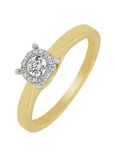 the-astral-diamond-9ct-yellow-gold-25-point-cluster-ring