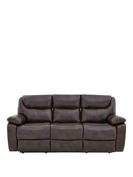 partonnbspluxury-faux-leather-3-seaternbspmanual-recliner-sofa