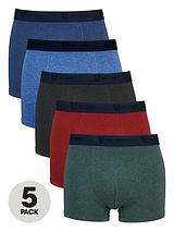 5 Pack Marl Trunks