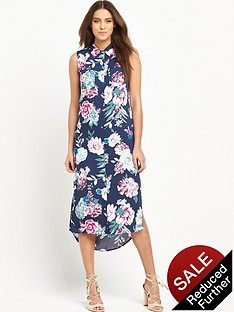 mink-pink-little-blossom-sleeveless-midi-shirt-dress-with-side-splits