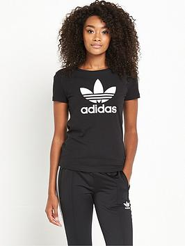 Adidas Originals Trefoil TShirt  Black