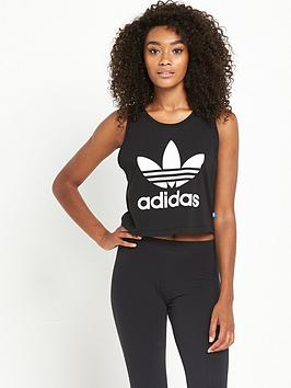 Adidas Originals Loose Crop Tank  Black