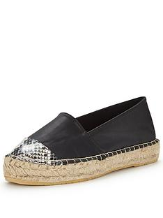 v-by-very-elf-snake-tipped-espadrilles-black