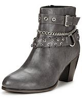 Clarence Chain And Strap Detail Ankle Boot