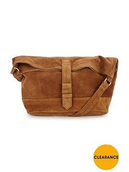warehouse-suede-shoulder-bag