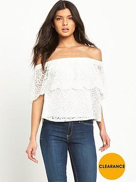 v-by-very-bardot-lace-top
