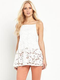 v-by-very-drop-hem-stretch-lace-caminbsptopnbsp