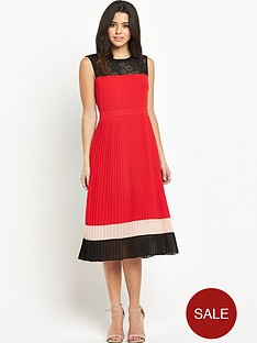 oasis-colourblock-pleated-dress