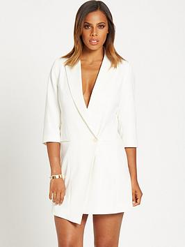 rochelle-humes-assymetric-panel-dress
