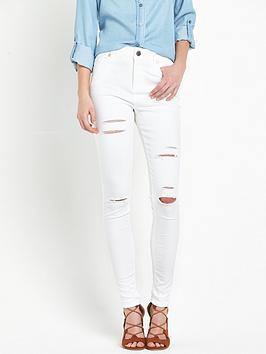 miss-selfridge-miss-selfridge-lizzie-shredded-white-jeans