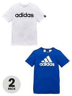 adidas-adidas-older-boys-pk-2-logo-tees
