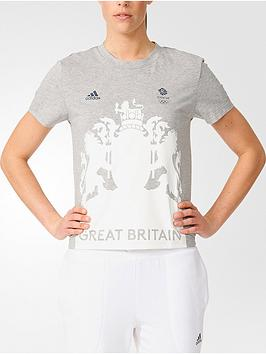 Adidas Village Team Gb Soli Crest TShirt