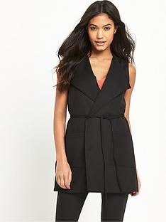 river-island-jersey-belted-sleeveless-jacket